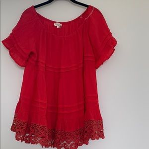Entro Red Blouse